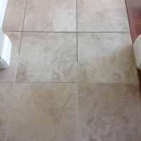 Recoloring grout to make grout lines disappear