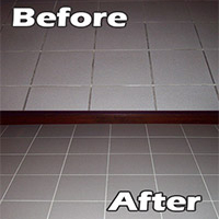 Change gray grout to white with grout coloring