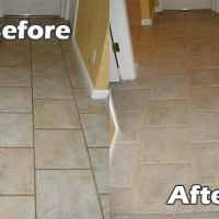 grout refinishing before and after