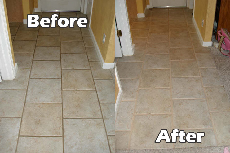 Grout Cleaning Before Amp After Images Seal Systems