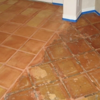 saltillo tile refinishing before and after