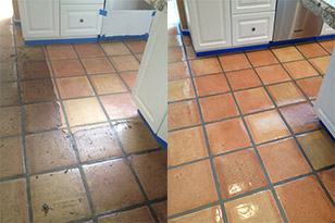 mexican pavers before & after
