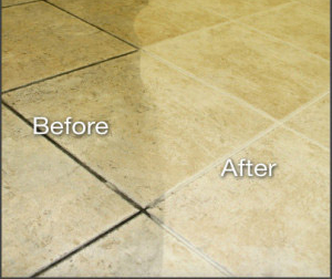 Grout cleaning befor& after