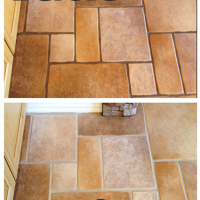 grout cleaning before and after