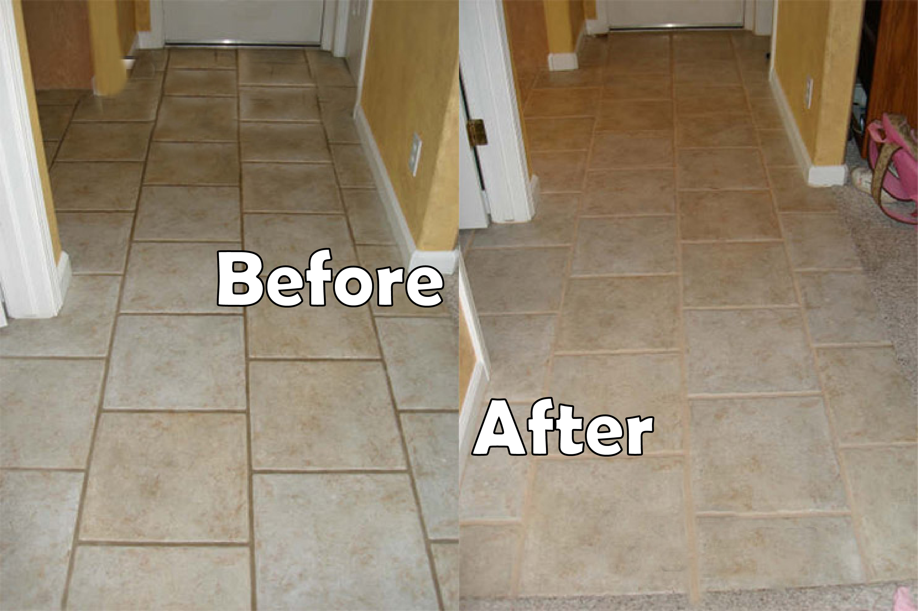 Grout Sealing Before Amp After Images Seal Systems