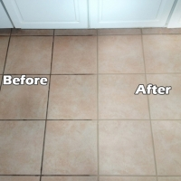 grout sealing before and after