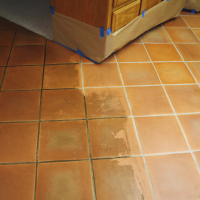 Saltillo tile cleaning before and after