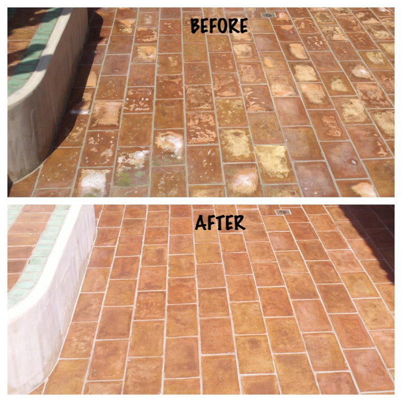Mexican Pavers Before Amp After Images Seal Systems